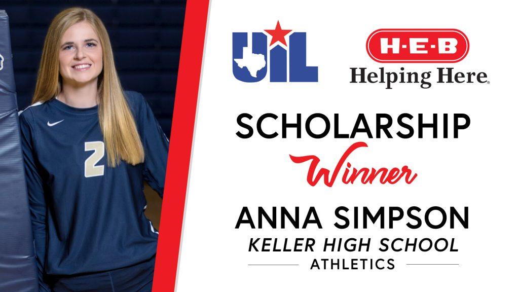 UIL Scholarship recipient Anna Simpson of Keller High School