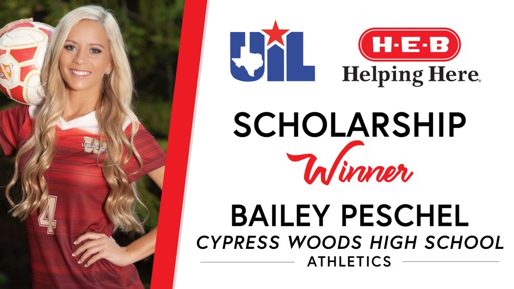 UIL Scholarship recipient Bailey Peschel of Cypress Woods High School