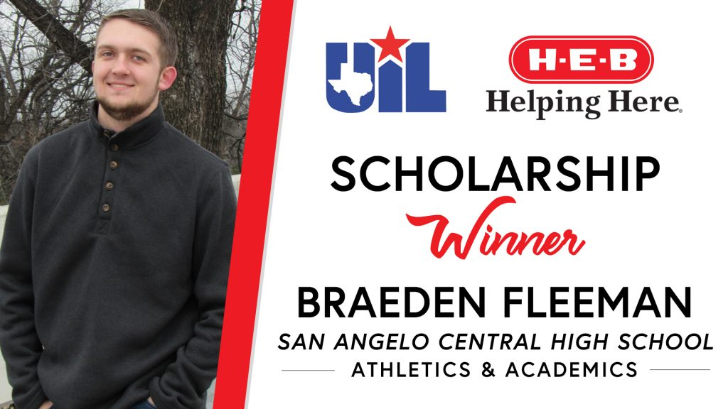 UIL Scholarship recipient Braeden Fleeman of San Angelo Central High School