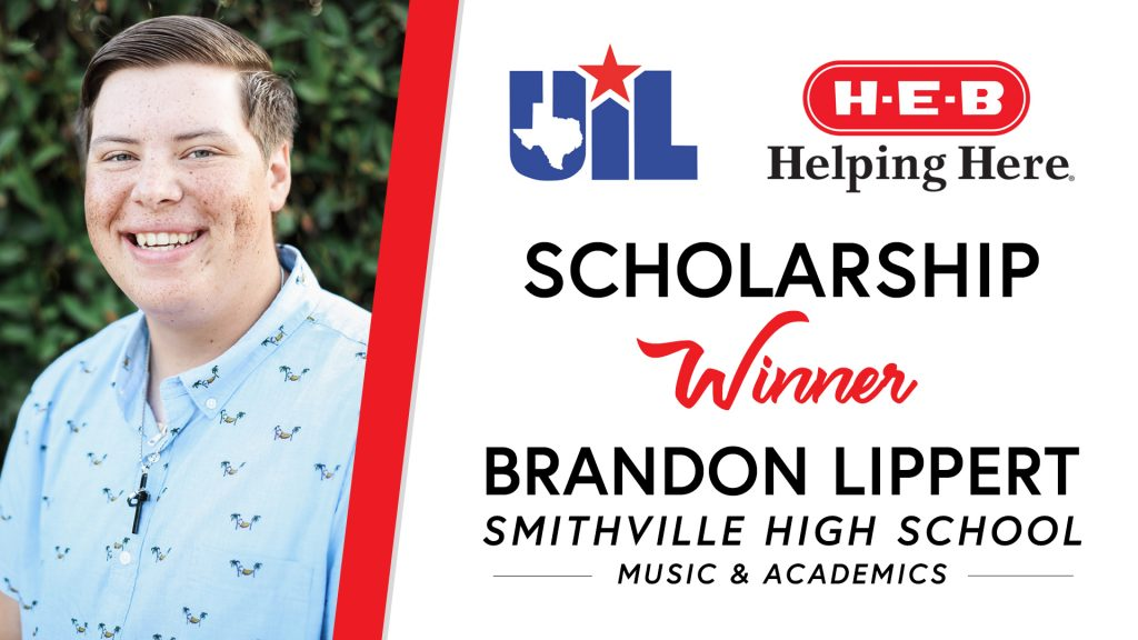 UIL Scholarship recipient Brandon Lippert of Smithville High School