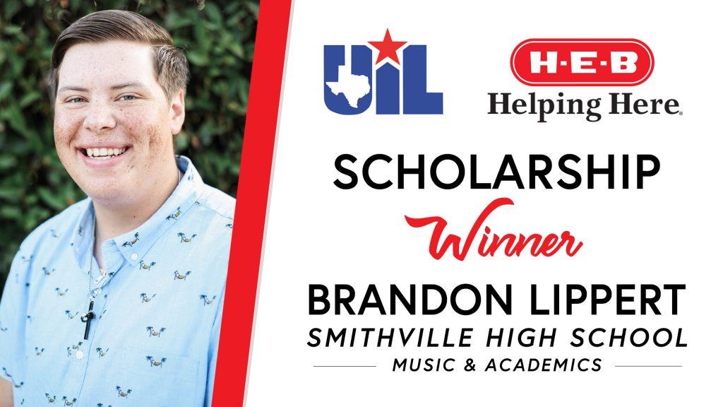 UIL Scholarship recipient Brandon Lippert of Smithville High School