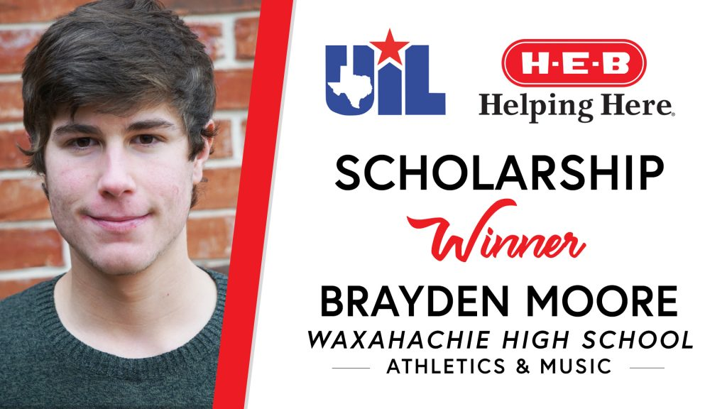 UIL Scholarship recipient Brayden Moore of Waxahachie High School
