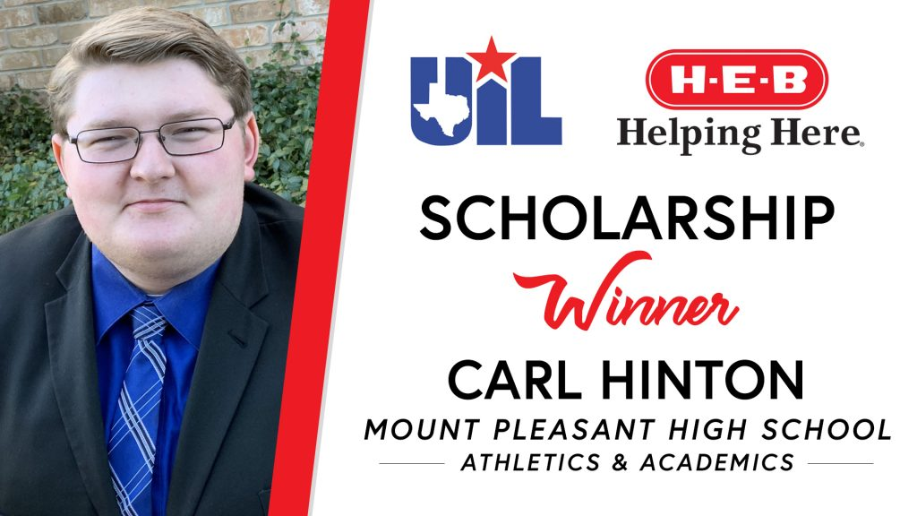 UIL Scholarship recipient Carl Hinton of Mount Pleasant High School