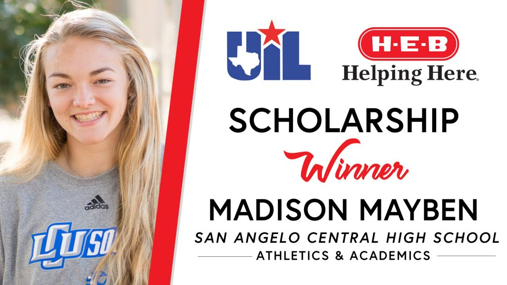UIL Scholarship recipient Madison Mayben of San Angelo Central High School.