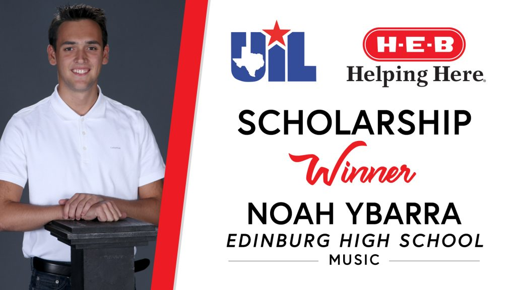 UIL Scholarship recipient Noah Ybarra of Edinburg High School.