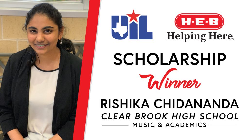 UIL Scholarship recipient Rishika Chidananda of Clear Brook High School.