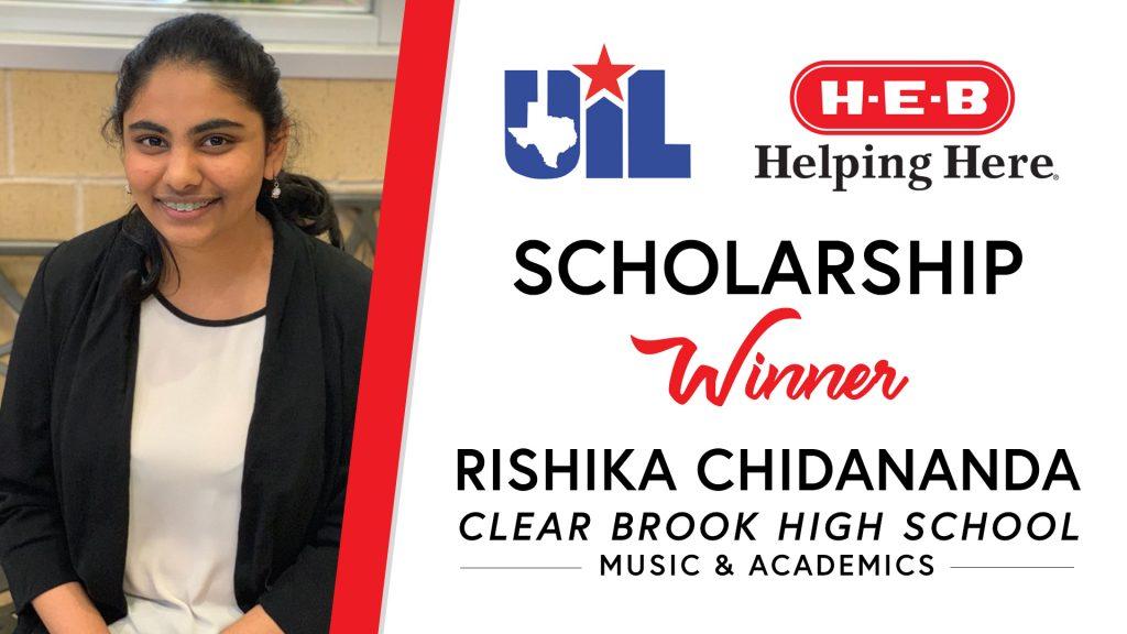 UIL Scholarship recipient Rishika Chidananda of Clear Brook High School.