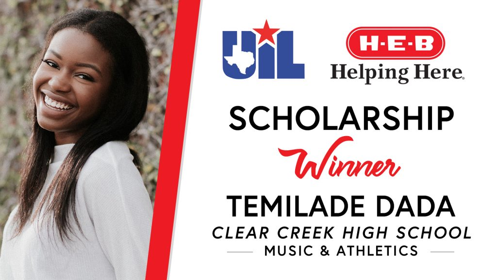 UIL Scholarship recipient Temilade Dada of Clear Creek High School.