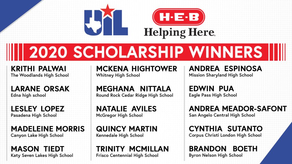 2020 Scholarship Recipients